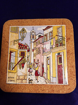 Decorative Souvenir Kitchen Tile/Trivet from Portugal