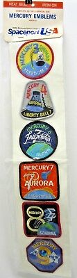 NASA Mercury Mission 3-9 Embroidered Patches NEW Unopened Pack of 6 AB Spaceport