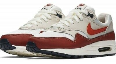 NIKE AIR MAX 1 Boys Shoes Sail Vintage Coral Mars Stone