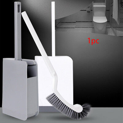 Long Handle Curved Seamless Toilet Brush Corner Cleaning Supplies Household