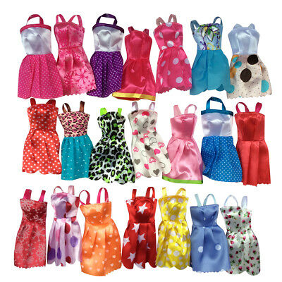 10 pcs/Lots Fashion Party Daily Wear Dress Outfits Clothes For Doll Toys
