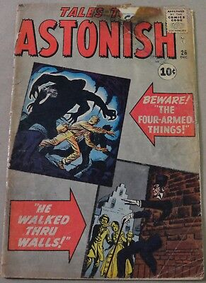 Tales To Astonish #26 (Marvel, 1961) Jack Kirby Cover.