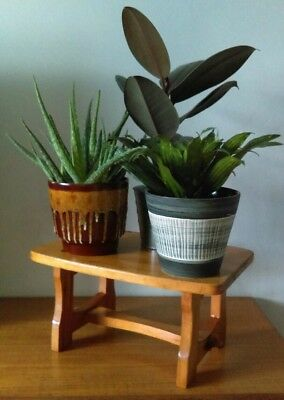 Vintage Wooden Pine Stool Step Plant Stand