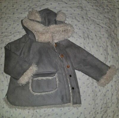 a03dce08a ZARA BABY GIRL Winter Jacket Coat Cream Sheepskin 9-12 Months ...