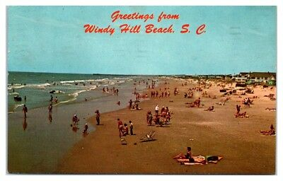 1966 Greetings From Windy Hill Beach Sc Postcard