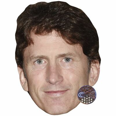 Todd Howard (Smile) Celebrity Mask, Card Face and Fancy Dress Mask