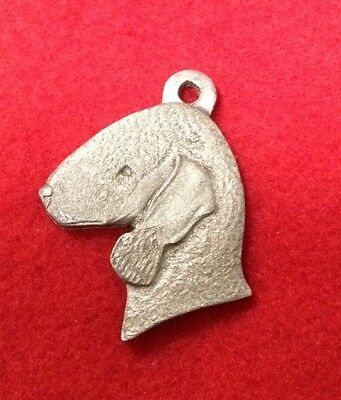 Rawcliffe Pewter Bedlington Terrier  Dog 1984 Key Ring Signed  P. DAVIS NOS