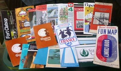 ~~ Mixed Lot Vintage Foreign & Domestic Travel Brochures/Maps & More ~ MUST SEE