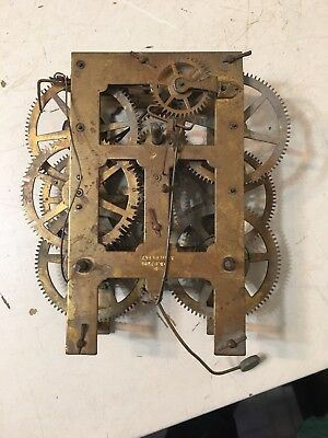 Antique Waterbury 8 Day Weight Driven Ogee Clock Movement