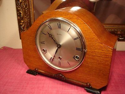Majestic,Bentima, English, Oak cased,Westminster Chiming,mantel clock.