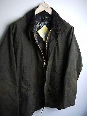 Barbour Classic Bedale Wax Jacket, New With Tags, Size 44, Olive Green