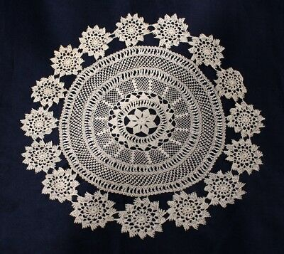 Armenian lace antique doiley . 11 inches round.