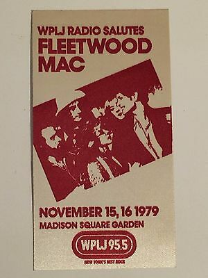 Fleetwood Mac Wplj Radio  Advertising Sticker Nov.15,16 1979 Concert Unused