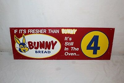 "Vintage 1950's Bunny Bread Grocery Store Aisle Marker Gas Oil Soda Pop 30"" Sign"