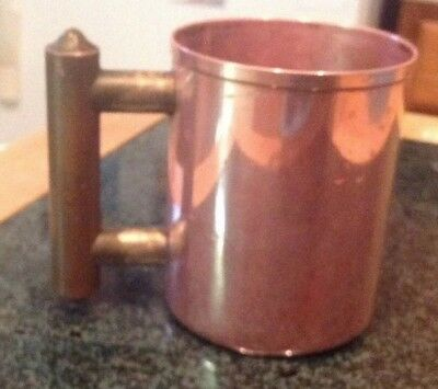 Antique Hand Hammered Solid Copper Handle Cup it May Be a Mug Jewish Washing Cup