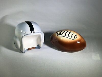 Vintage Salt and Pepper Shakers Football Helmet and Football Made in Japan