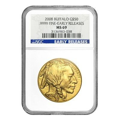 2008 1 oz $50 Gold American Buffalo NGC MS 69 Early Releases