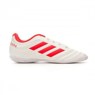 CHAUSSURE DE FUTSAL adidas Copa 19.4 IN enfant Off white Solar red White