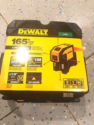 Dewalt 5 Spot Self-Leveling Spot Beams And Horizontal Line Laser Level DW0851