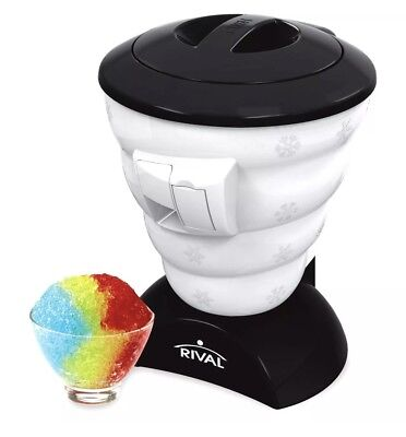Frozen Delights Snow Cone Maker Shaved Machine Ice Cube Crusher Party Shaver Blk