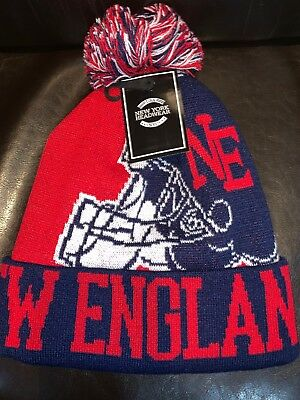 New England Patriots Pom Winter Hat Beanie New Sideline 2018 Hamlet Design