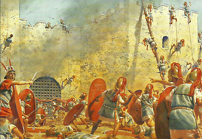 Postcard Battle of Philippi Roman Civil Wars 42 BC Fall of Xanthos Turkey