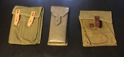 3 total Romanian 7.62x39 5.45x39 Military Surplus Magazine Pouches lot #4