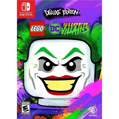 * New * LEGO DC Super-Villains Deluxe Edition Nintendo Switch FREE SHIPPING! ✔