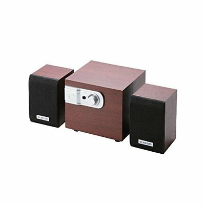 ELECOM speaker 12W 2.1ch wooden cherry wood MS-W02WCH JAPAN