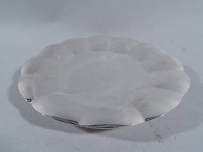 Tiffany Cake Plate - 22929 - Modern Petal Footed Tray - American Sterling