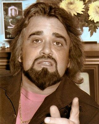 "WOLFMAN JACK, ROBERT WESTON SMITH DISC JOCKEY 4x6"" HAND COLOR TINTED PHOTOGRAPH"