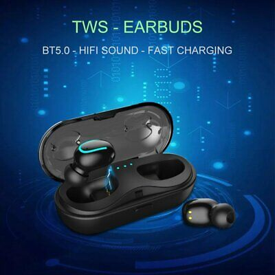 TWS Wireless Headphone In-Ear HiFi Stereo Bluetooth V5.0 Earphone Earbud Headset