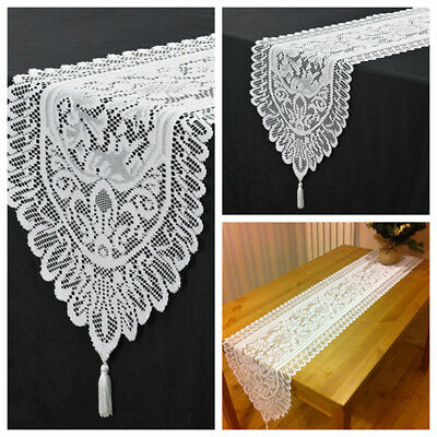 Christmas Table Runner Uk.13 X71 White Christmas Table Runner Vintage Lace Table Decoration Home Party
