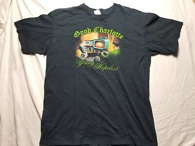 Good Charlotte The Young And The Hopeless large Anvil T Shirt 2002