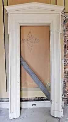 Antique Italianate Door Pediment Trim Surround - C. 1860 Architectural Salvage