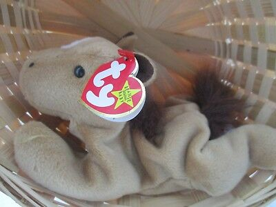 Ty Beanie Baby DERBY the horse with Errors Retired 1995