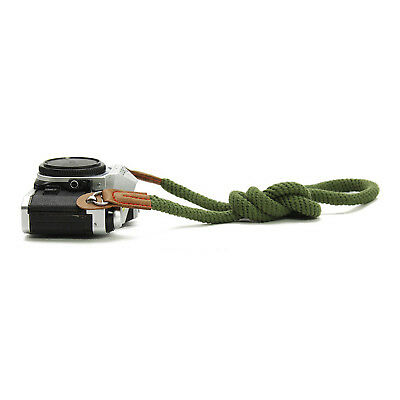 Handmade Woven Rope Leather Camera Shoulder Neck Strap 100cm Universal Green