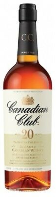 Canadian Club 20 Year Old Canadian Whisky 750ml Gift Boxed