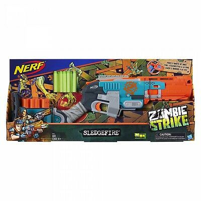 Nerf Zombie Strike Sledgefire Blaster New In Box (Discontinued By Nerf)