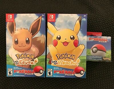 Pokemon: Let's Go, Pikachu, Let's Go, Eevee & Poke Ball Plus - Nintendo Switch
