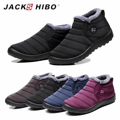 Womens Winter Snow Ankle Boots Platform Fur Lined Outdoor Warm Shoes Waterproof