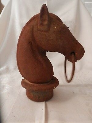 Antique Cast Iron  Horse Head Finial/hitching Post Cap
