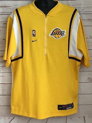 303687ef045 VTG Nike Authentic Los Angeles Lakers Warm Up Shooting Shirt Jersey Size  Large