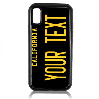 Personalized Name California State License Plate iPhone 8 7 6 Plus Phone Case BK