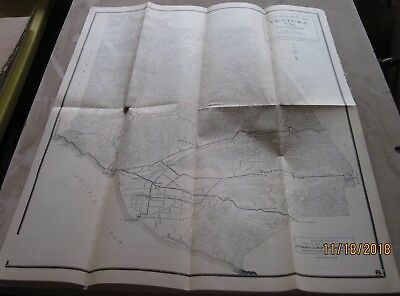 Collectible 1920's AAA Road Map of Ventura County California