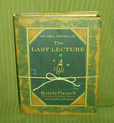 2008 First Edition Randy Pausch The Last Lecture Book