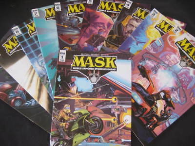 10 MASK COMICS-No.1-10-BY IDW ISSUED-VGC-VIEW PHOTO.