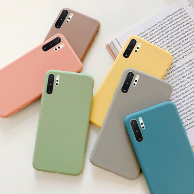 For Samsung Galaxy A7 2018 A750 Thin Matte Silicone Soft Gel TPU Slim Case Cover
