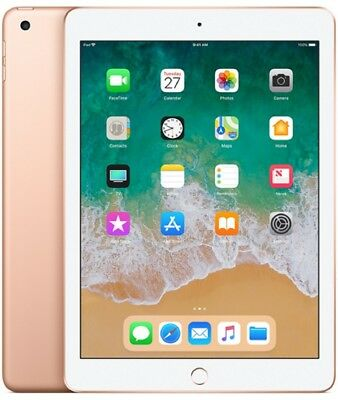"Apple iPad 2018 Wi-Fi 128GB MRJP2 9.7"" IOS 11 Tablet NEU OVP - Gold"