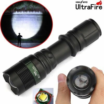 CREE Tactical 90000LM Zoomable T6 LED Flashlight 18650 Super Bright Torch Xmas